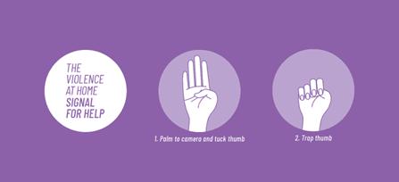 Gesto oběti domácího násilí. Obr.: canadianwomen.org